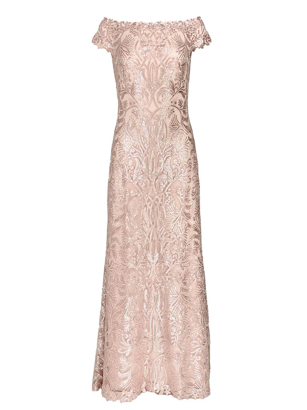 Haya Sequin Lace Gown