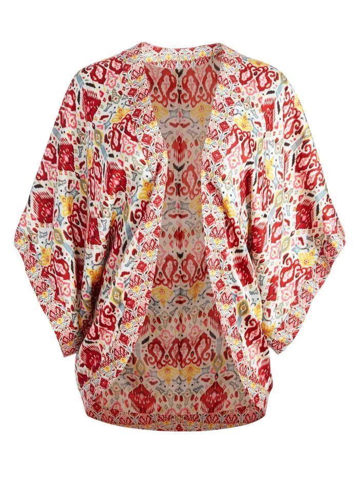 Tracy Reversible Cocoon Kimono Item # CC106P43201