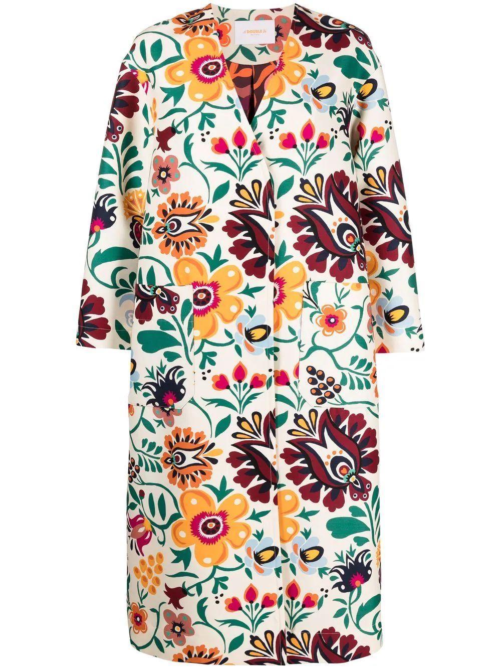 Floral Topper Coat