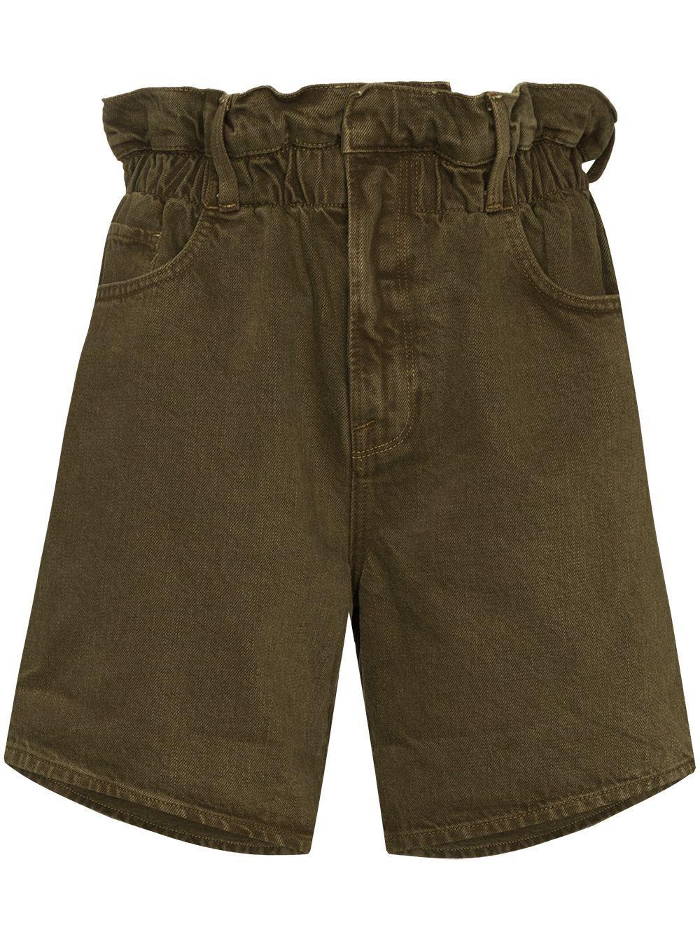 Elastic Waist Jean Shorts