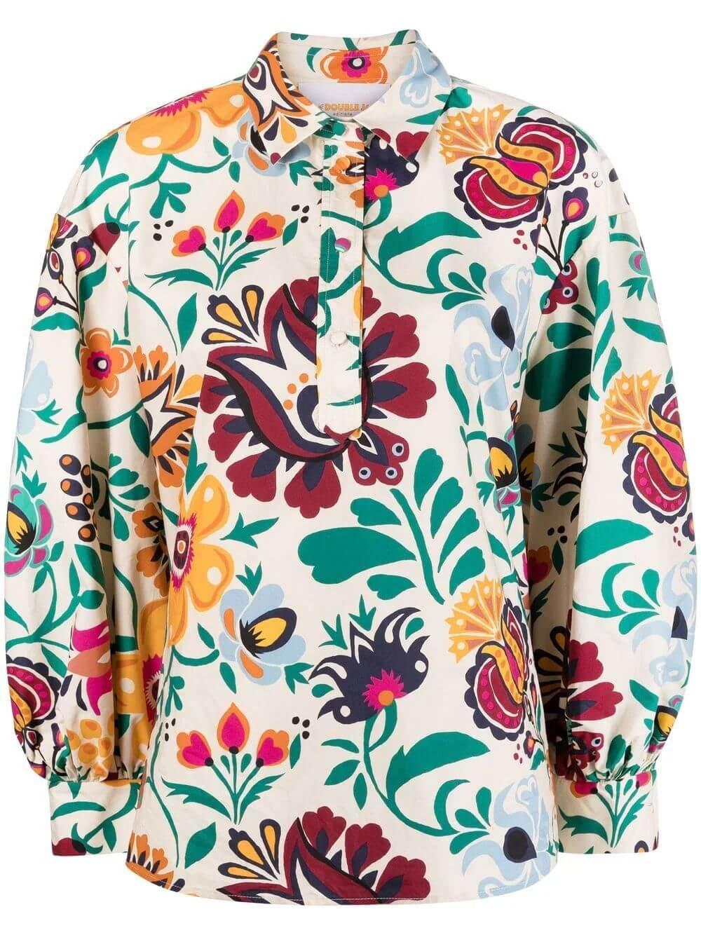 Floral Poet Shirt Item # SHI0055-COT001