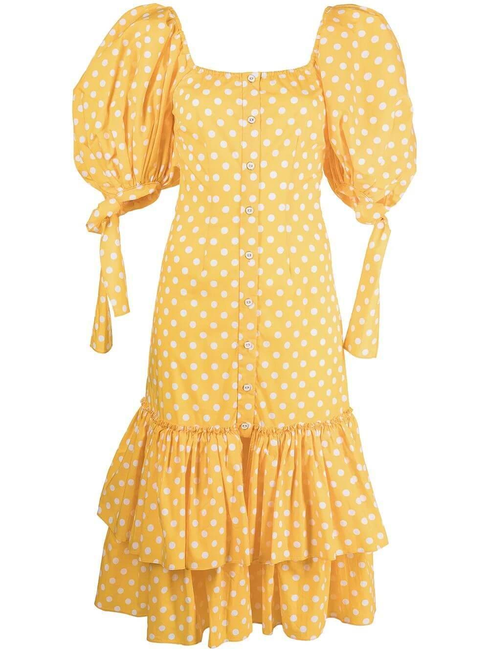 Nella Polkadot Midi Dress Item # D163PDCS21