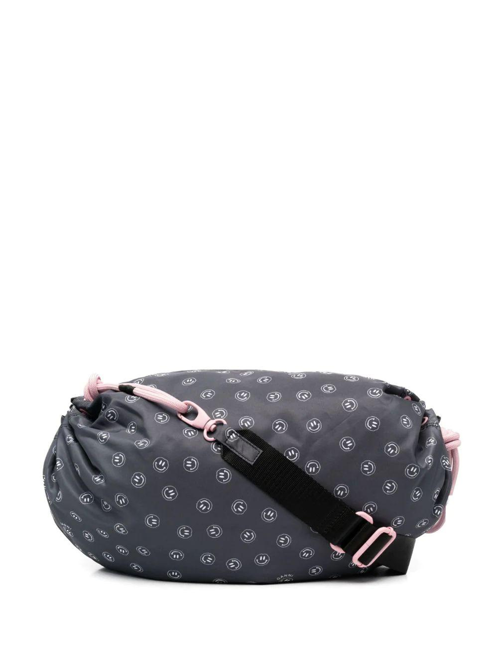 Recycled Tech Fabric Shoulder Bag Item # A3382