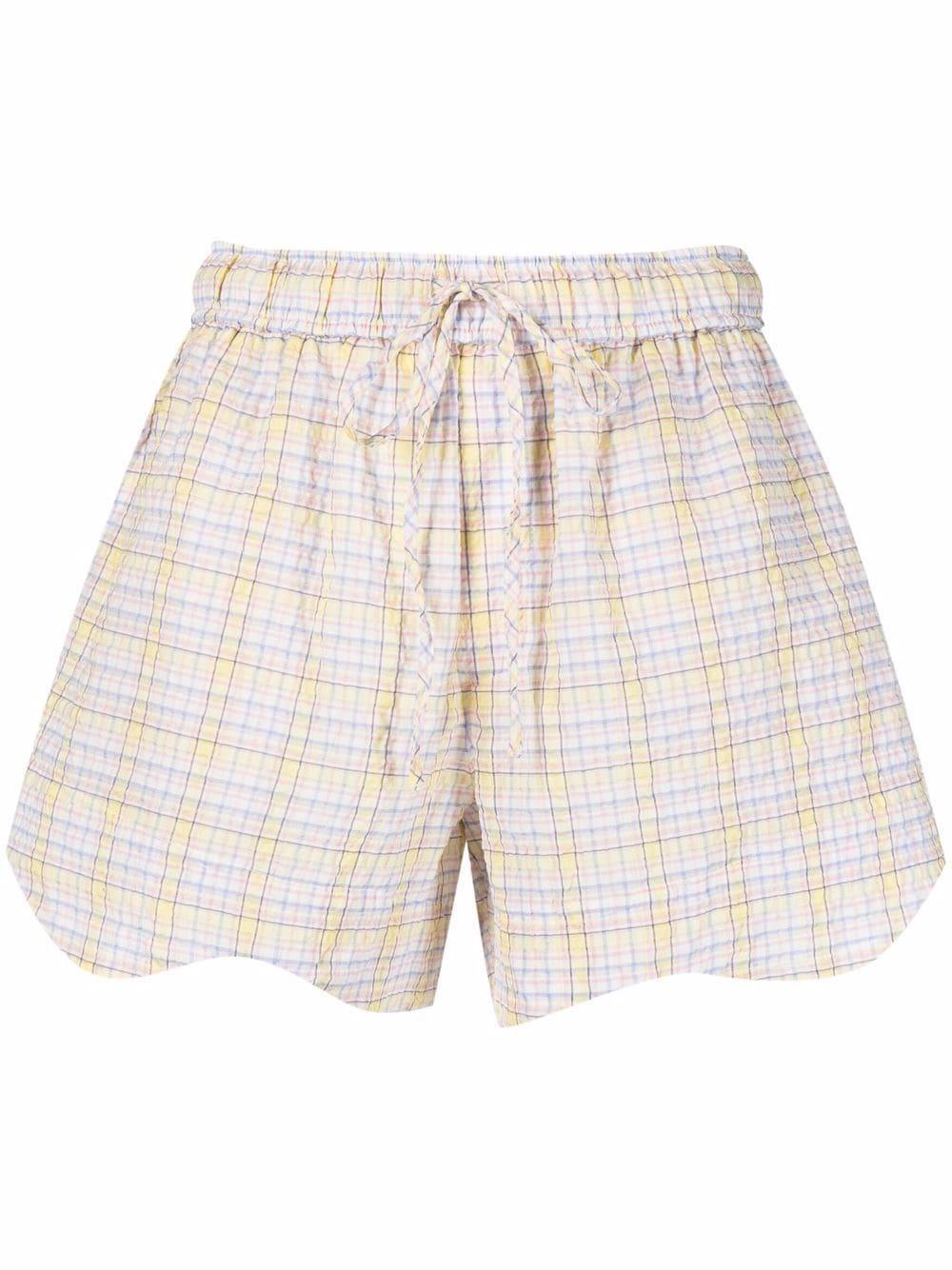 Seersucker Check Shorts Item # F6070
