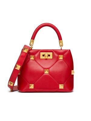 Small Roman Stud Top Handle Bag