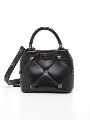 Roman Stud Small Top Handle Bag