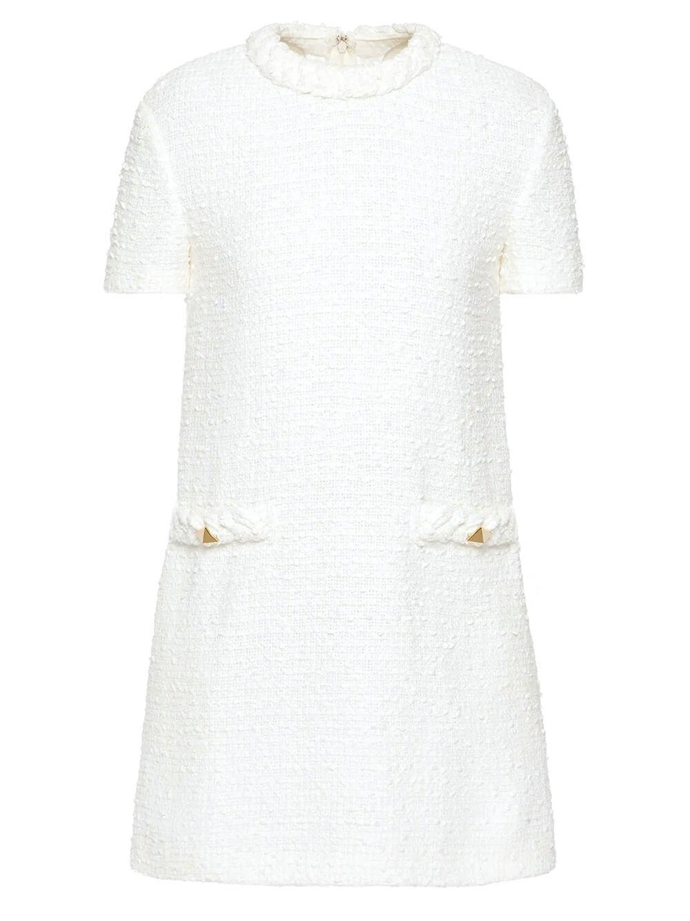 Tweed Mini Dress Item # WB3VAWC16JJ