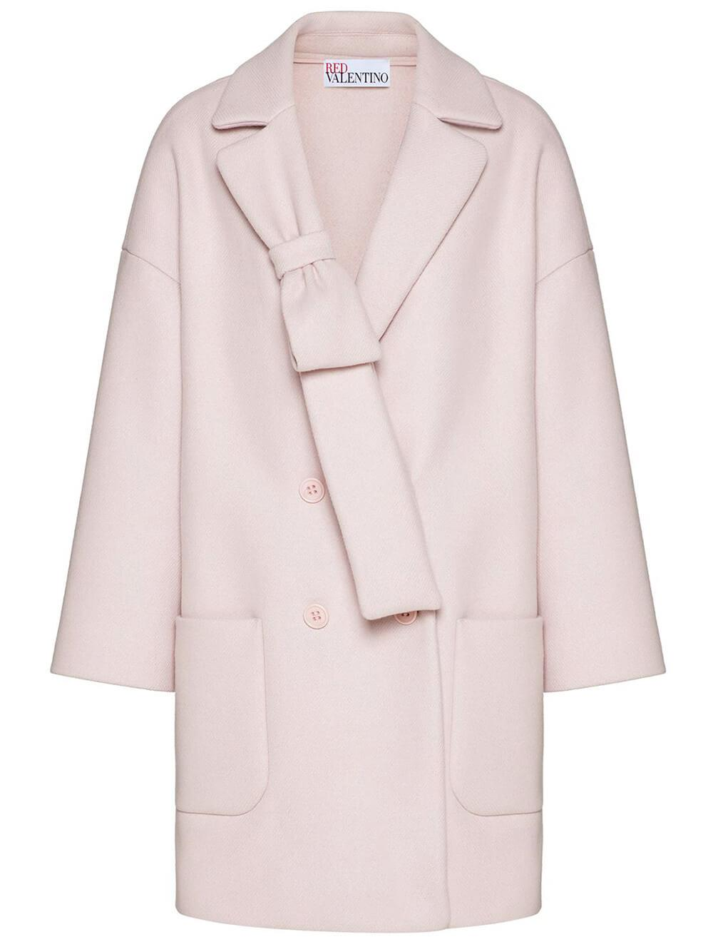 Cashmere Coat With Bow Detail Item # WR3CAD605Y6