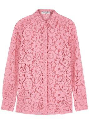 Lace Button Down Blouse