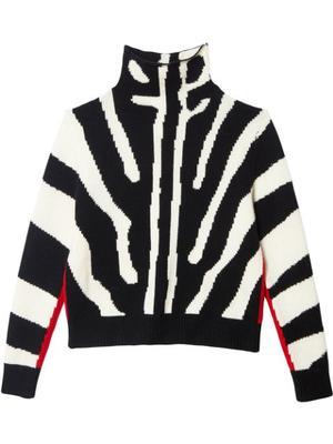 Zebra Print Pullover