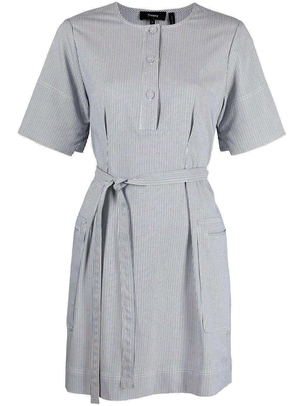 Tie Waist Cotton Dress