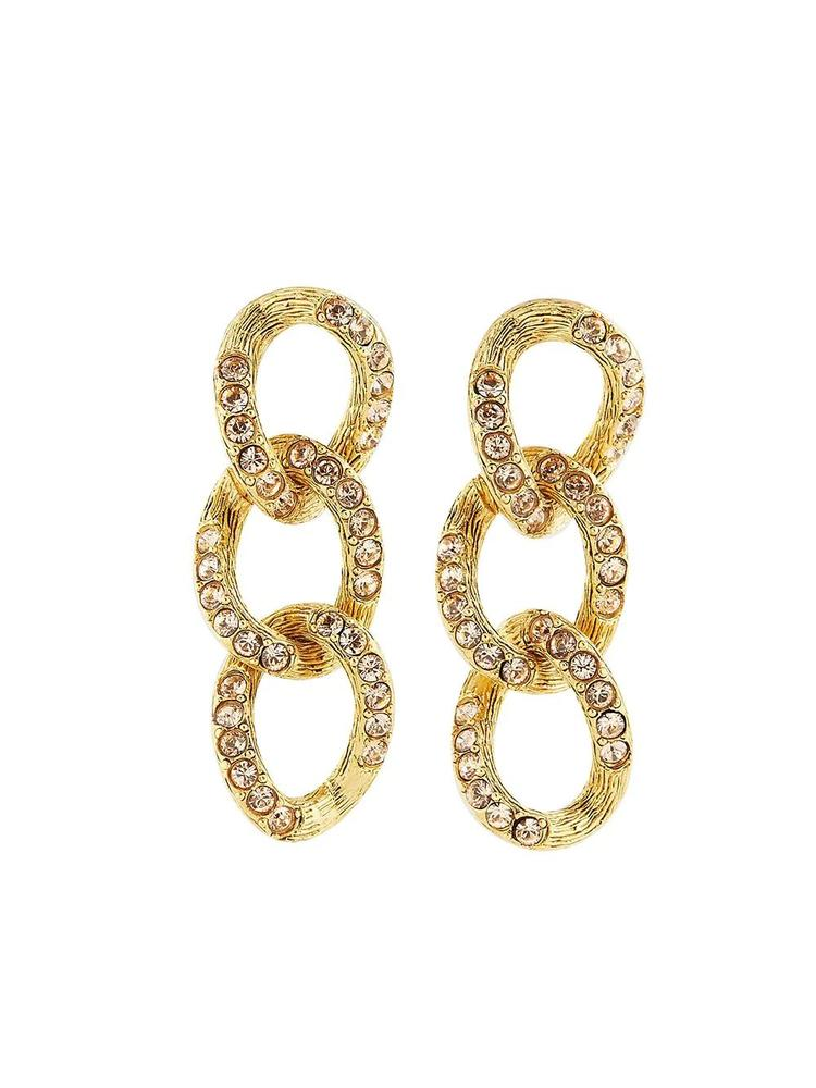 Chain Link Earrings Item # P21J105