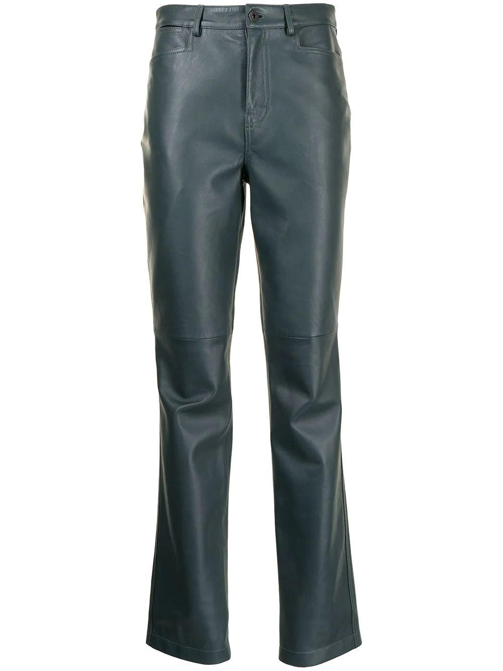 Straight Leather Pant Item # WL2136100