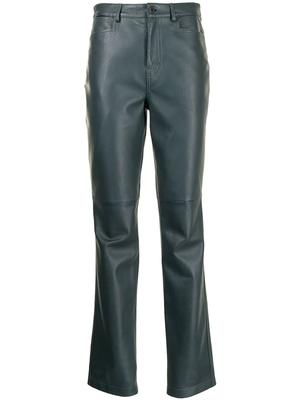Straight Leather Pant
