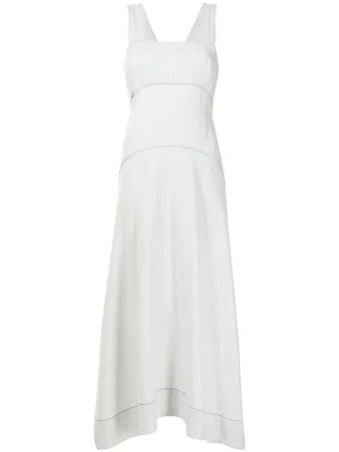 Chambray Seamed Dress