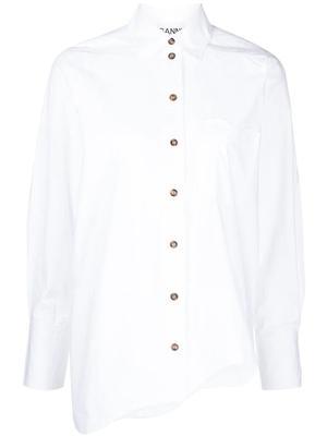 Scallop Hem Button Down Shirt