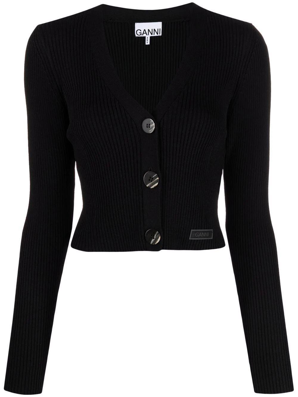 Melange Knit Cardigan Item # K1522