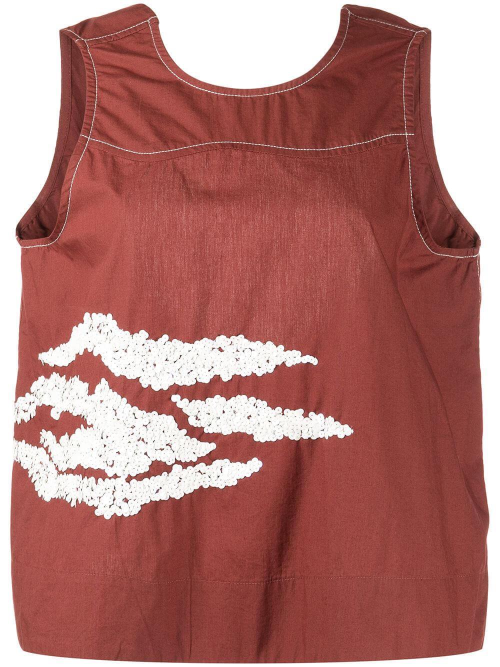 Embellished Cotton Top Item # F5971