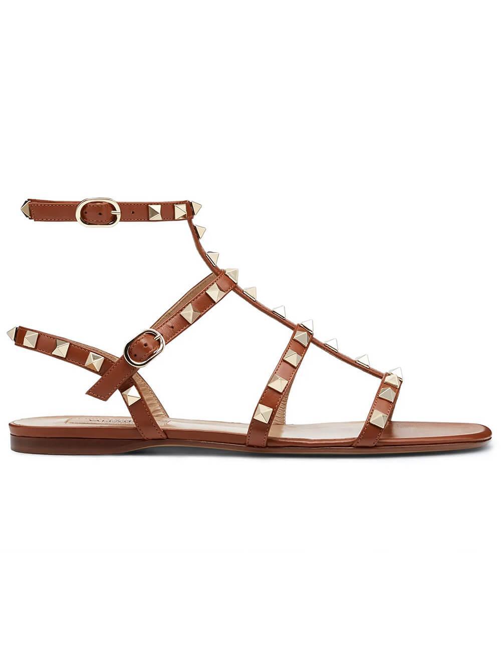 Rockstud Flat Gladiator Sandal Item # UW2S0A05VOD