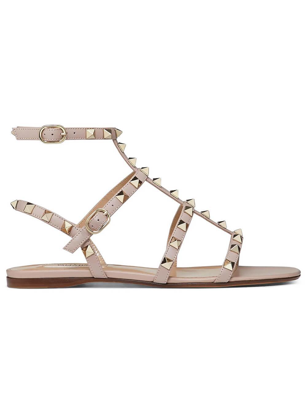 Rockstud Flat Gladiator Sandal