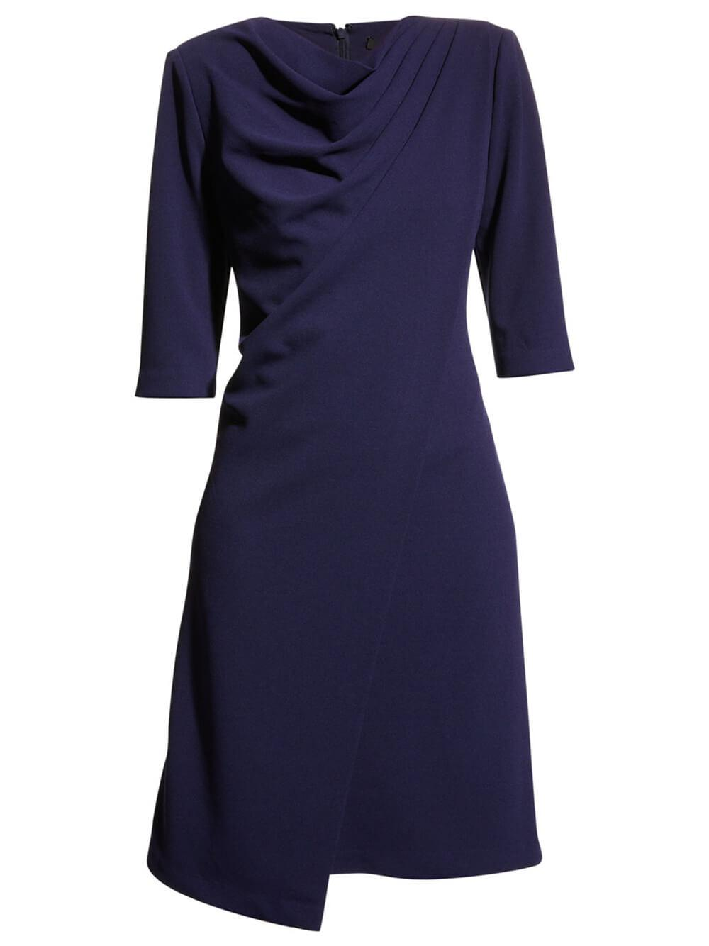 Draped High Neck Dress