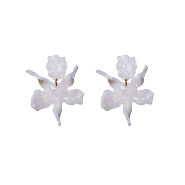 Small Paper Lily Earrings Item # LS0592MP-F21