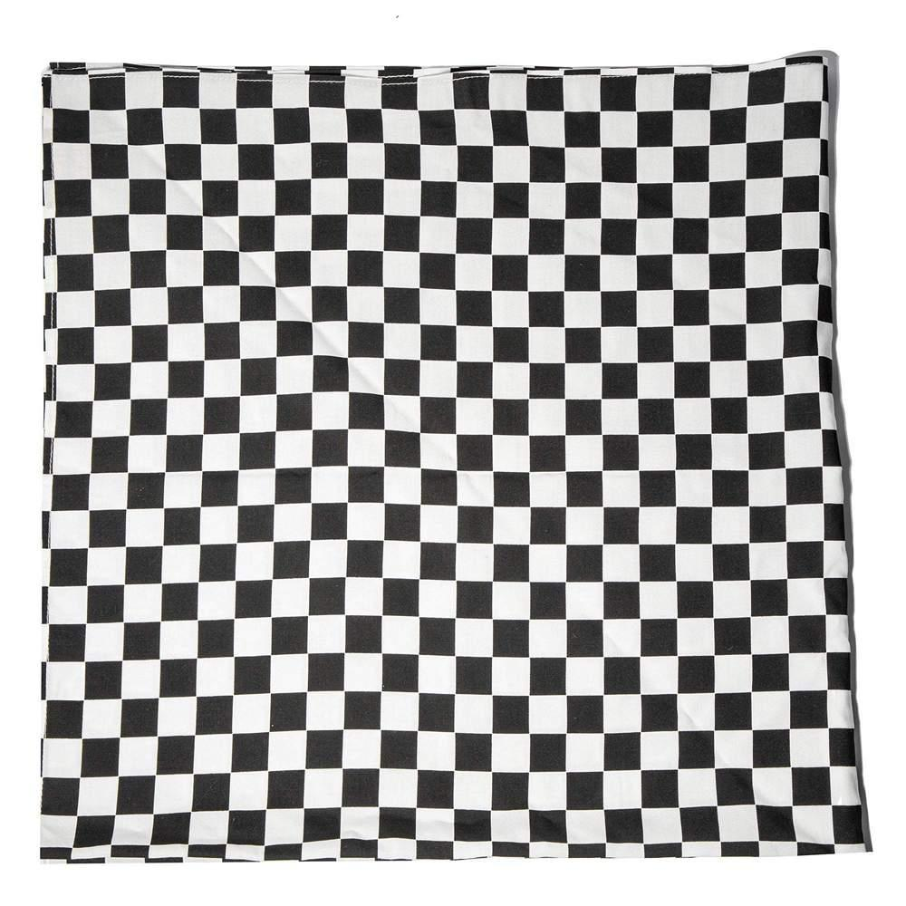 Square Checkerboard Scarf Item # LSSC013BW