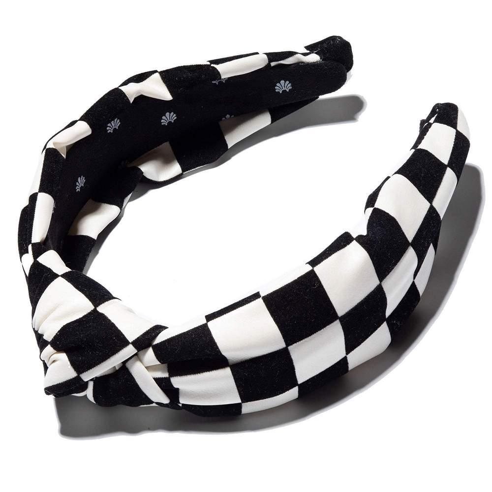 Oversized Checkered Headband