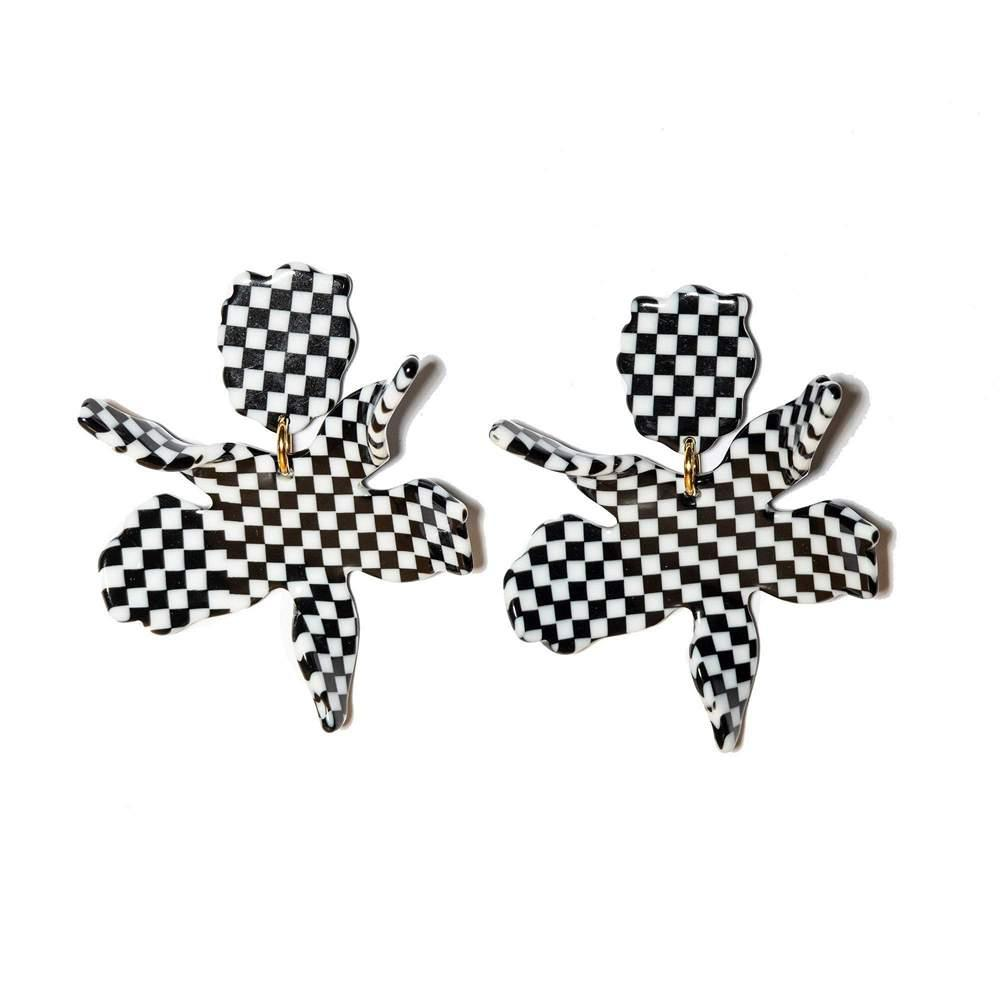 Small Paper Lily Earrings Item # LS0592BW