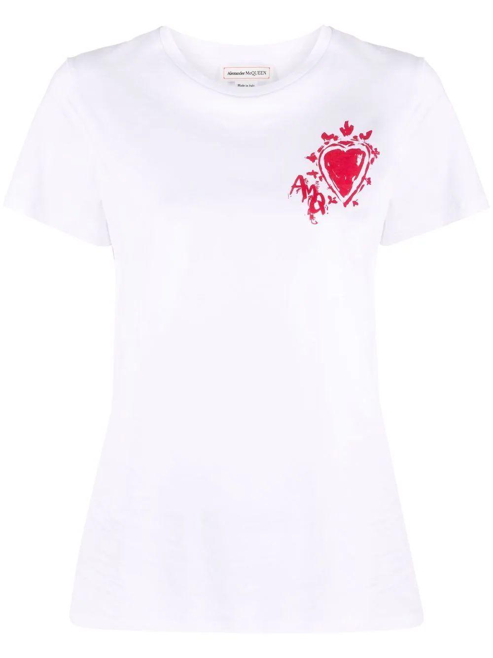 Painted Heart T- Shirt Item # 608614QZADJ