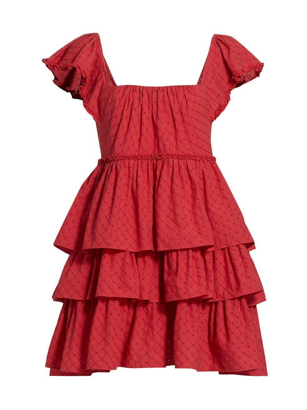 Marcia Tiered Mini Dress Item # ZD14094417Z