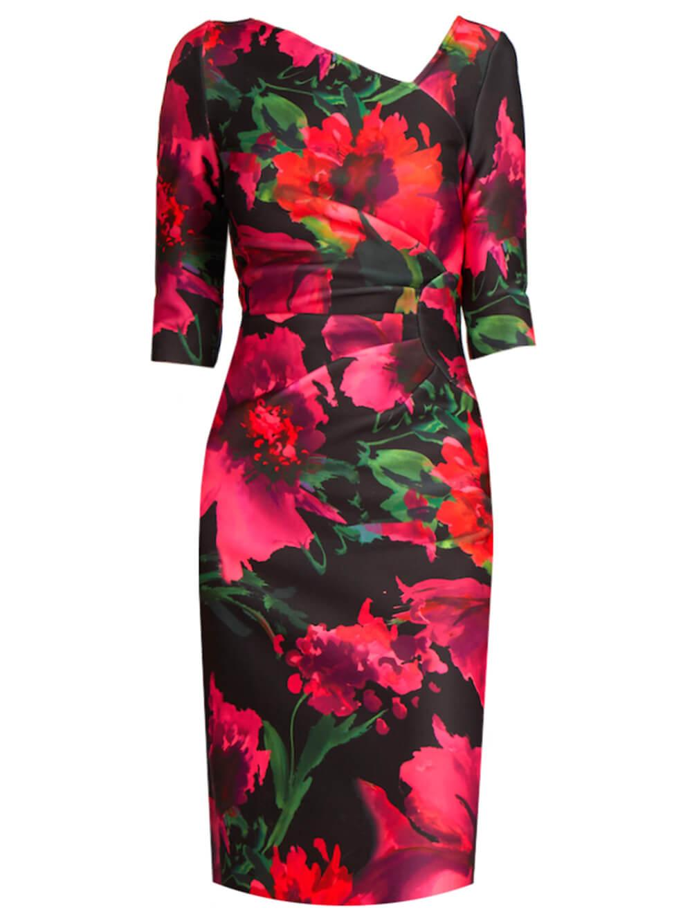 Floral Fitted Dress Item # 21301