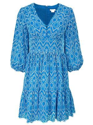 Moss Cotton Eyelet Dress