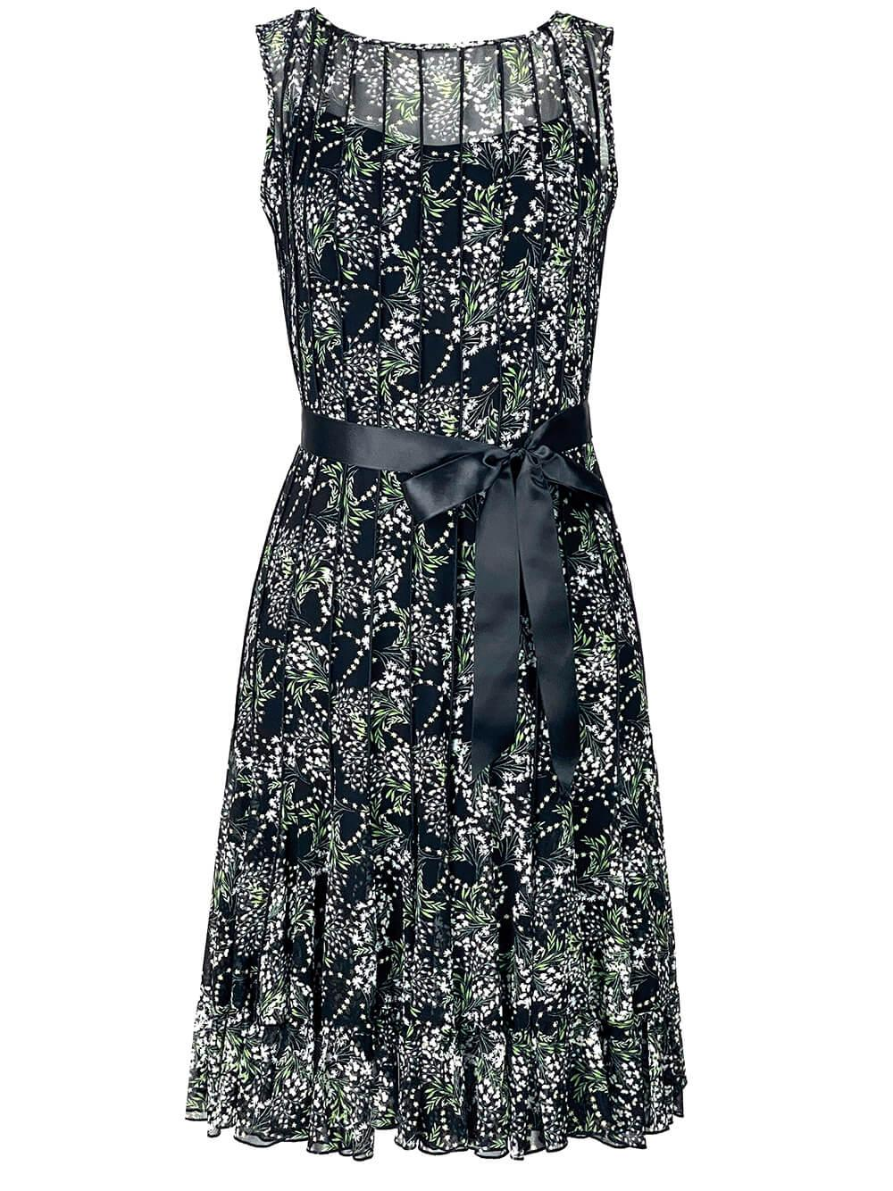 Ditsy Print Fit and Flare Dress