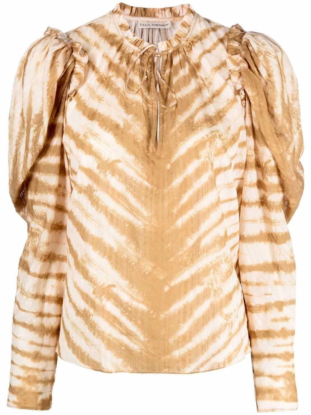 Madena Tiger Tie Dye Blouse