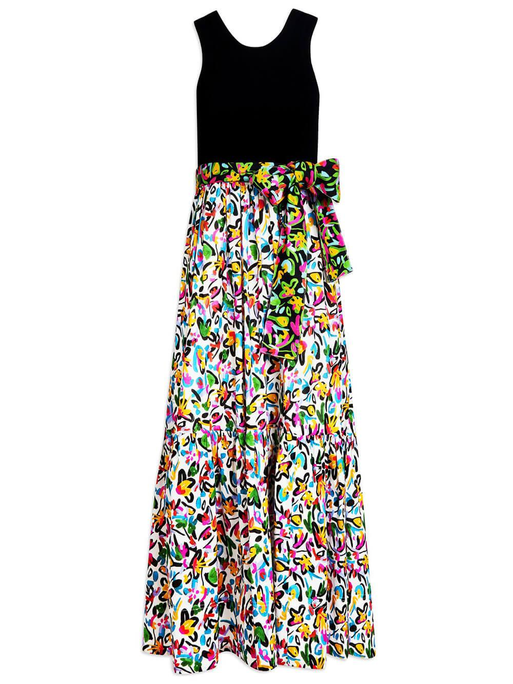 Genevive Painterly Printed Dress
