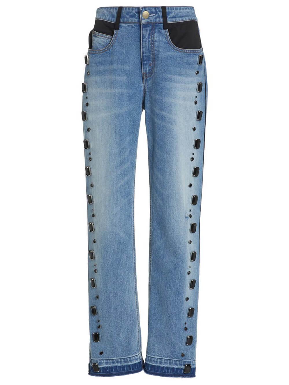 Boyfriend Crystal Embellished Jean