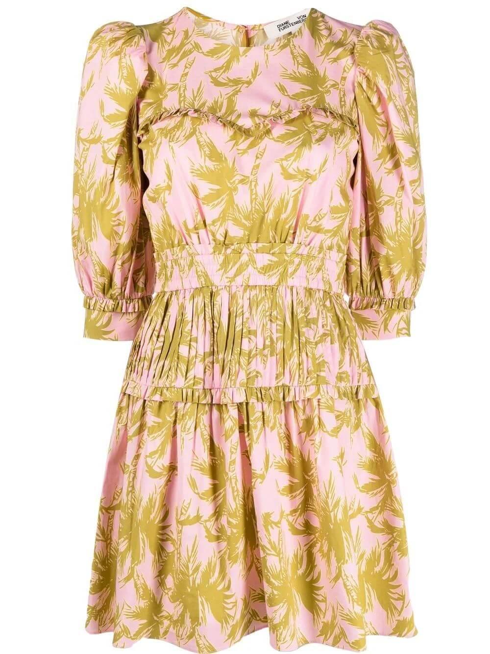 Phoebe Palm Printed Dress