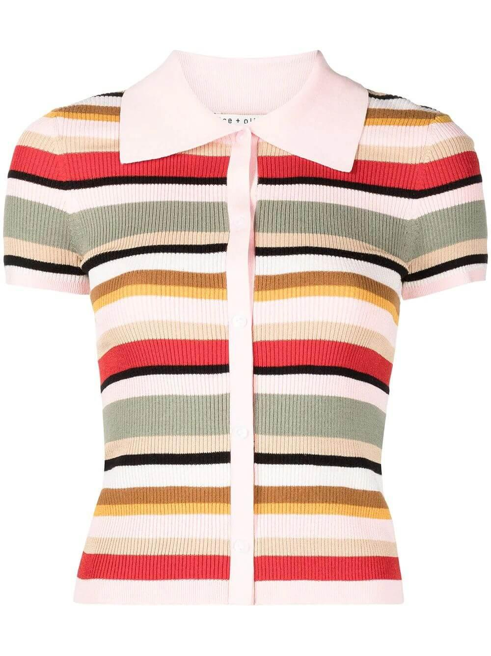 Colleen Striped Knit Top Item # CC106S08706