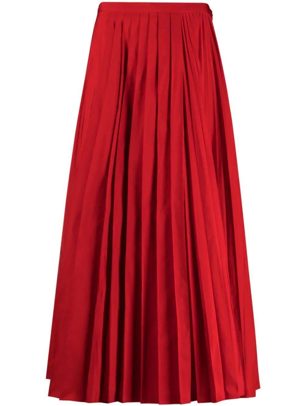 Pleated Midi Skirt Item # WB3RA7S54H2