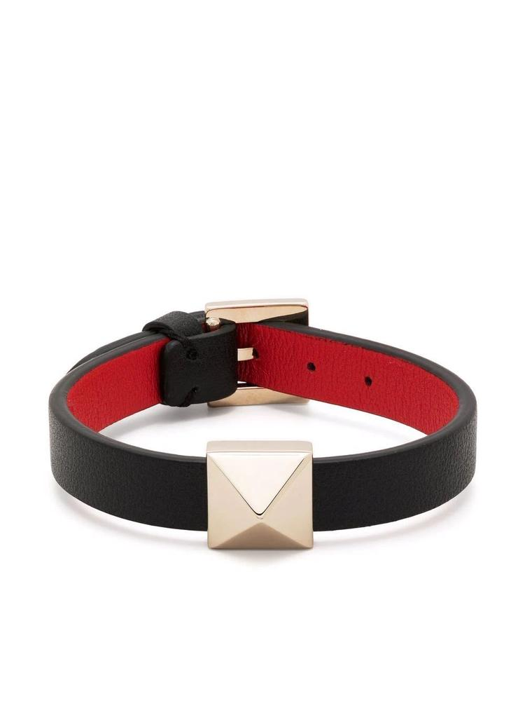 Rockstud Leather Bracelet Item # VW2J0H18VIT