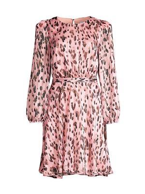 Leopard Stripe Burnout Dress