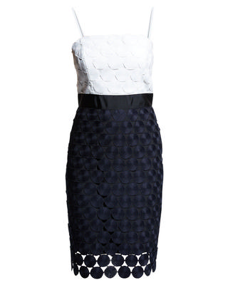Oversized Dot Embroidered Dress