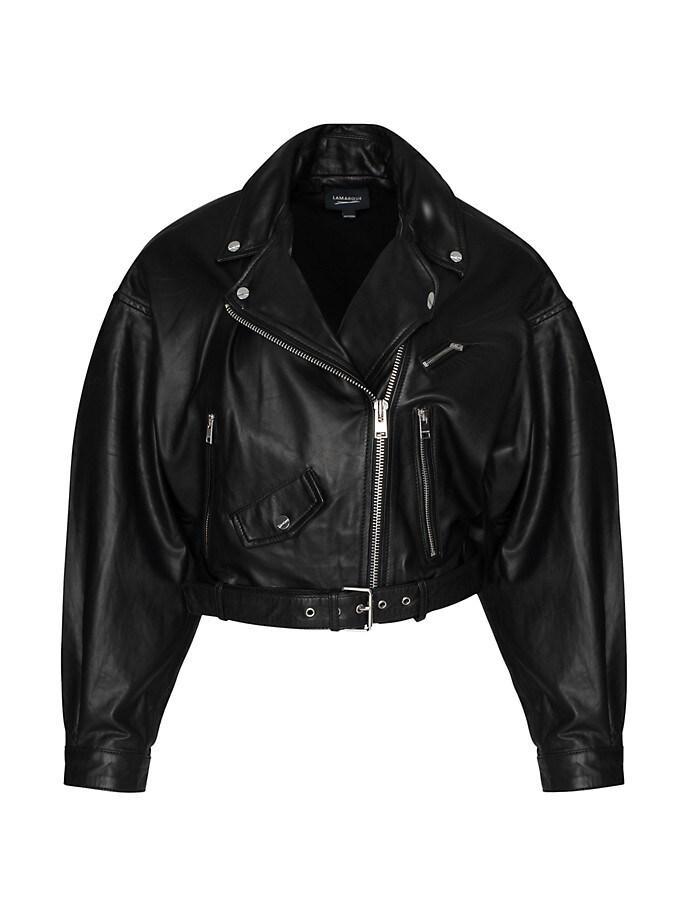 Dylan Oversized Leather Jacket