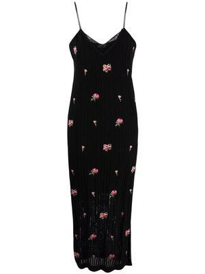 Floral Applique Knit Dress