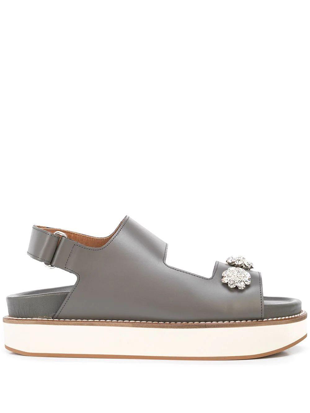 Embellished Platform Sandal Item # S1537