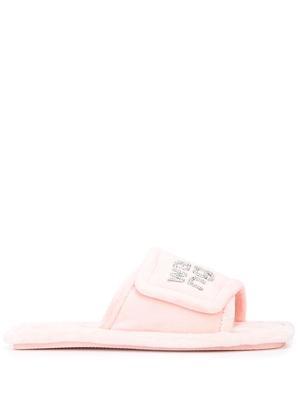 Lana Logo Velour Slippers