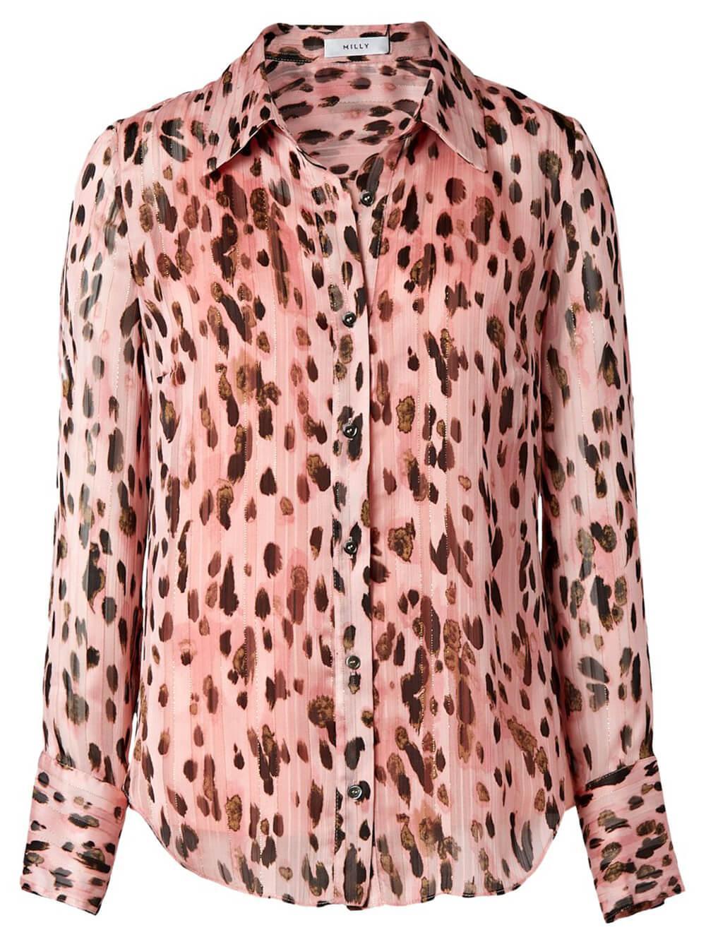 Leopard Stripe Button Up Top Item # 97PT21