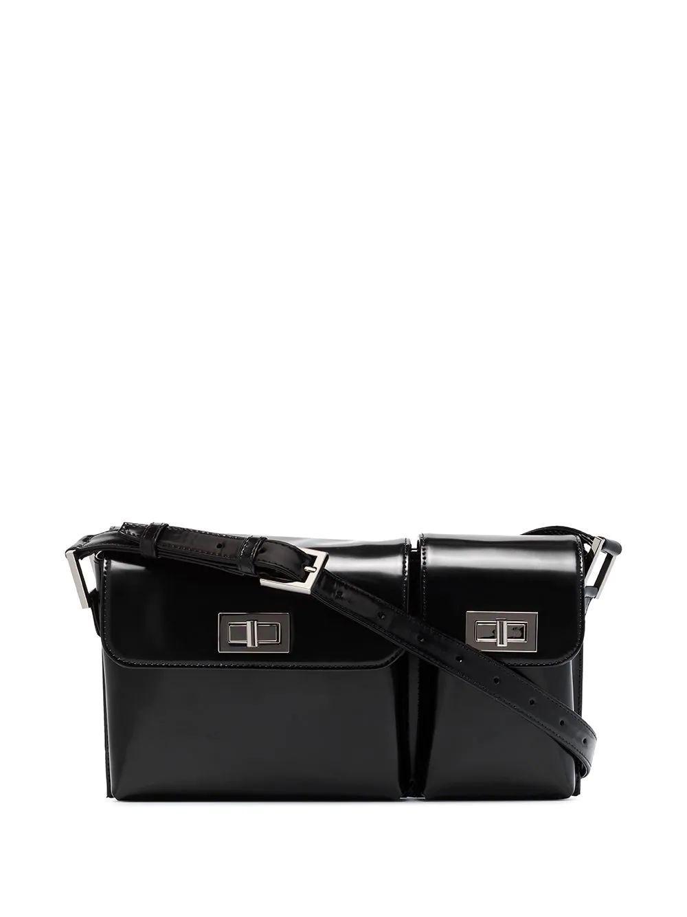 Billy Semi- Patent Shoulder Bag Item # 20SSBLY
