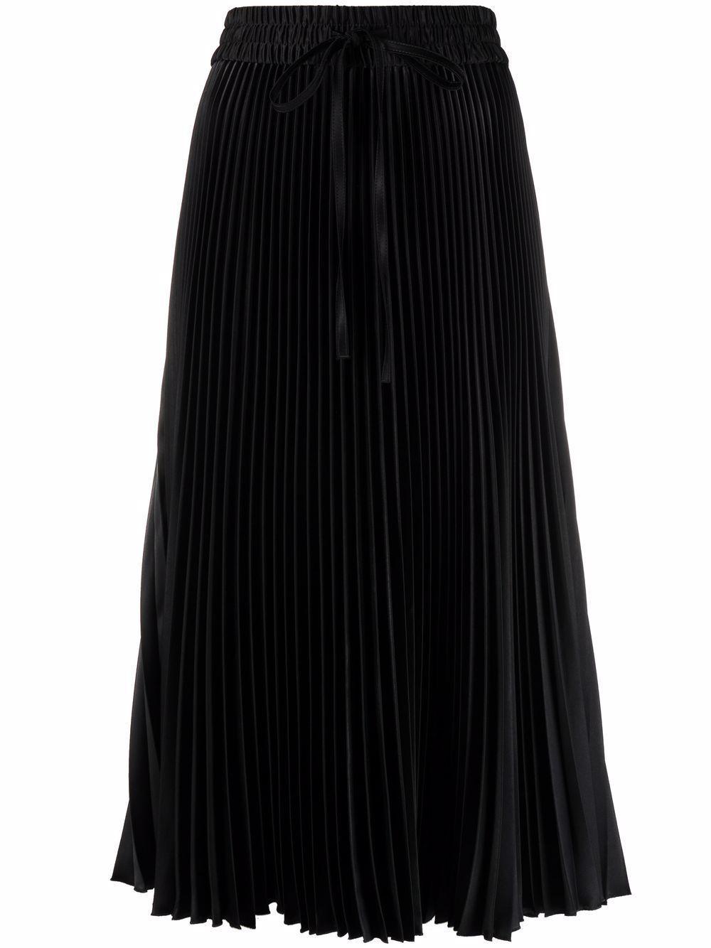 Pleated Drawstring Midi Skirt Item # WR3RA3605Y5